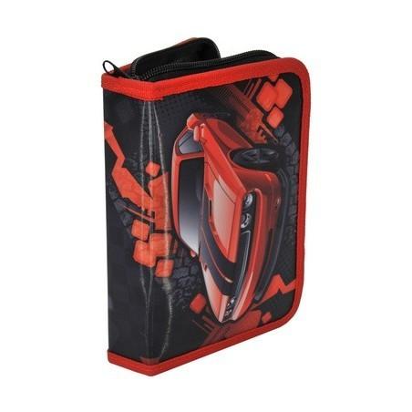 Piórnik z wyposażeniem Auta Challenger Czerwony