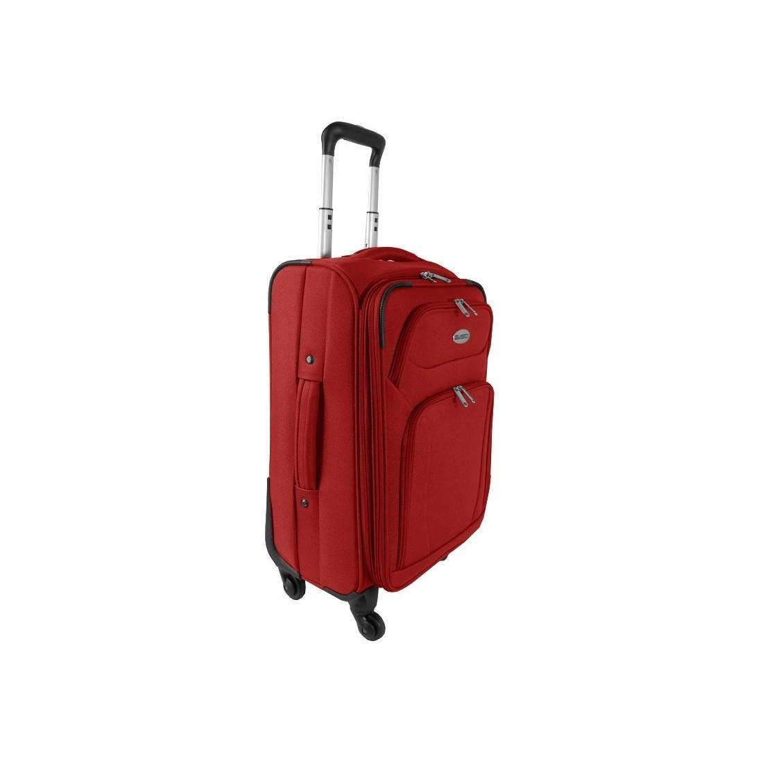 Walizka Mała Czerwona Premium - plecak-tornister.pl