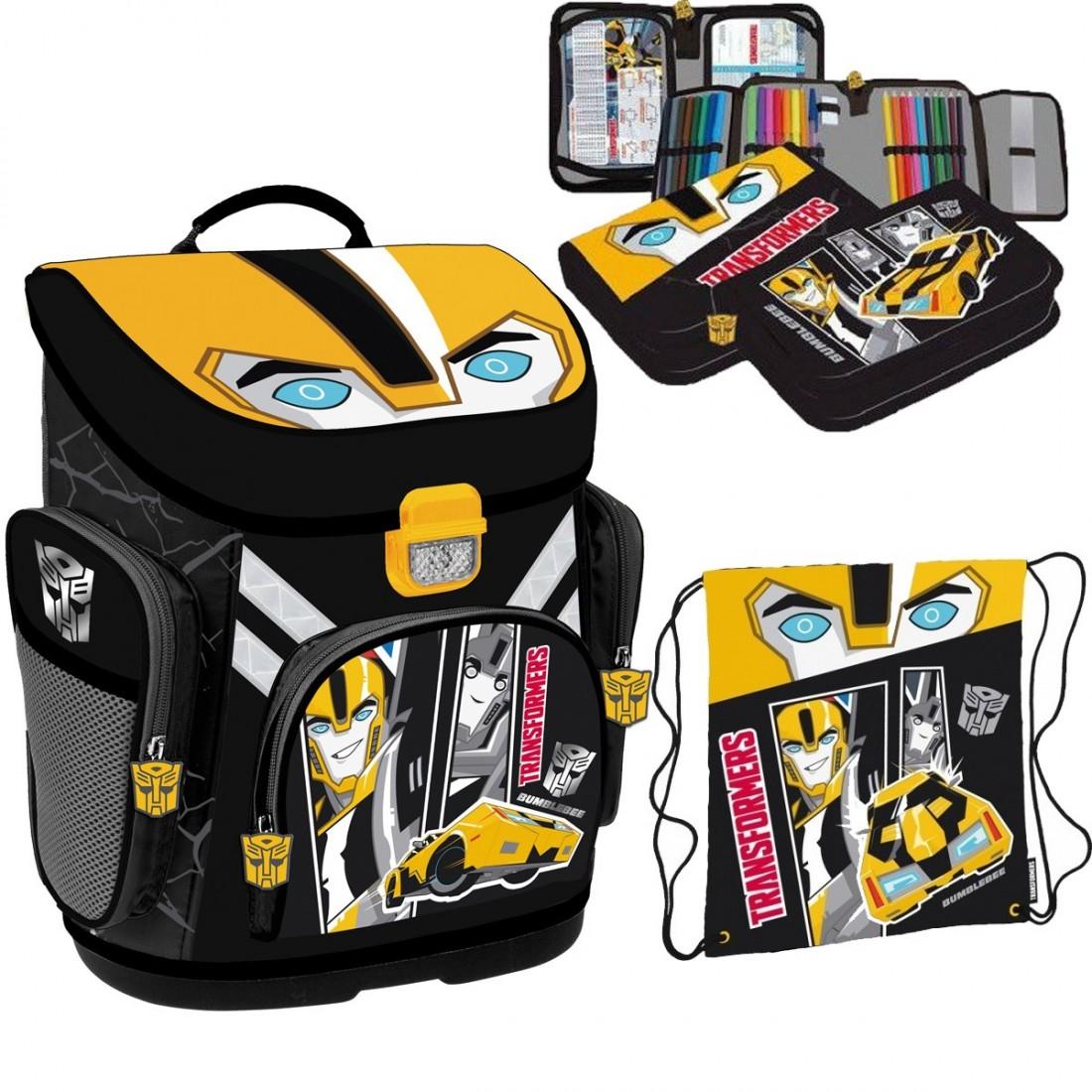 70295384c5cc0 ZESTAW Tornister Szkolny Transformers Bumblebee Supermocni - plecak ...
