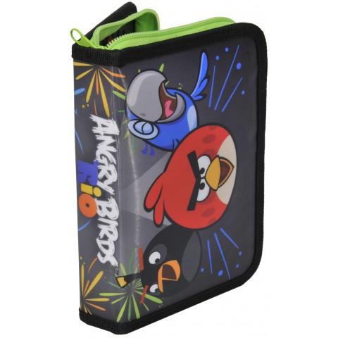 Piórnik z Wyposażeniem Angry Birds Zielony