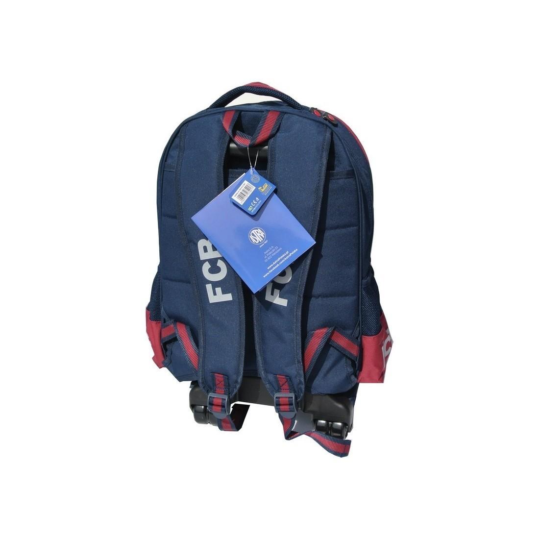 Plecak na kółkach FC Barcelona - plecak-tornister.pl