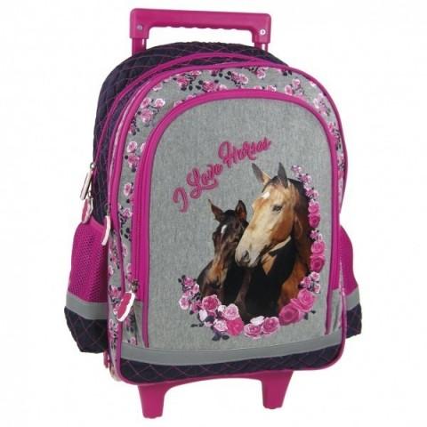 Plecak 15 na kółkach Konie 13