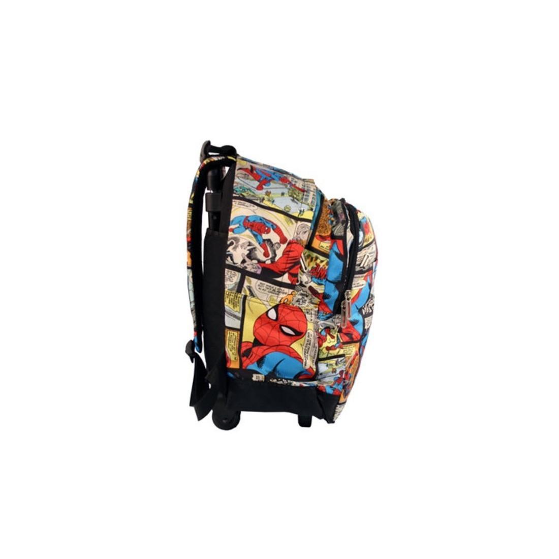 Plecak na kółkach SPIDERMAN komiks - plecak-tornister.pl