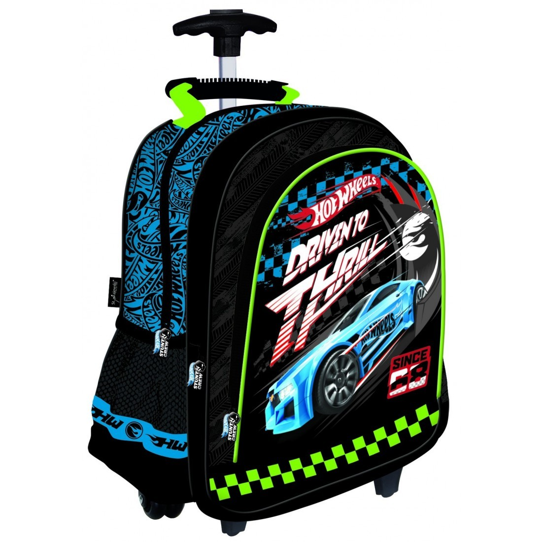 20d26ab29ac9f Plecak szkolny na kółkach Hot Wheels samochody dla chłopaka - plecak ...