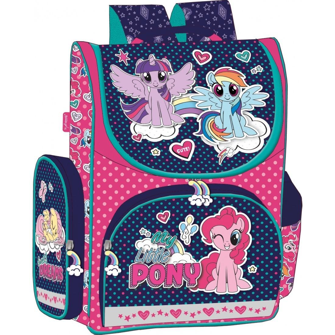 59f6d6e455080 Tornister szkolny usztywniany My Little Pony w kropki dla ...