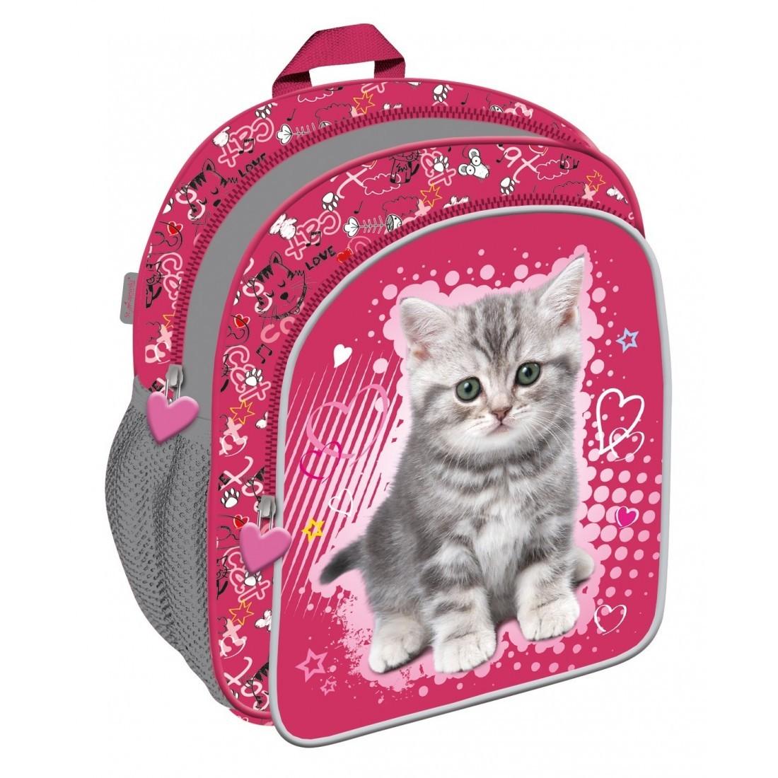 d8dfe7b003eb9 Mały plecak wycieczkowy My Little Friend z kotkiem dla dziewczynki ...