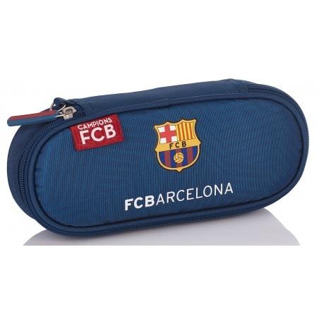 Piórnik szkolny / etui 1-komorowe FC Barcelona granatowa FC-156