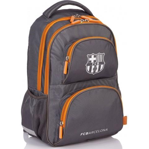 Plecak młodzieżowy FC Barcelona FC-148 srebrny piłkarski