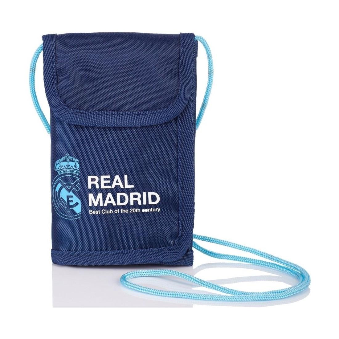 340be88dd3abd Portfel na szyję Real Madryt granatowy RM-97 dla kibica - plecak ...
