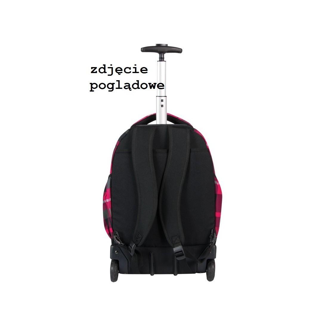 Plecak CoolPack na kółkach dla dziewczyny w kratkę - RAPID STRATFORD CP 043 - plecak-tornister.pl