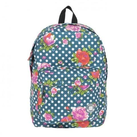 Plecak młodzieżowy Paso kwiaty i kropki