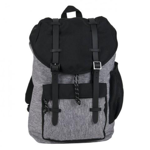 Plecak Paso vintage z klapą szaro-czarny