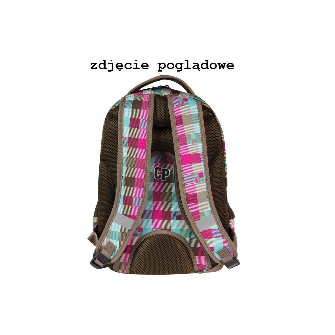 PLECAK MŁODZIEŻOWY COOLPACK 2w1 COMBO PASTEL CHECK CP 122 - kratka - plecak-tornister.pl