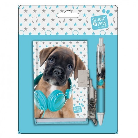 Zestaw pamiętnik z długopisem Studio Pets
