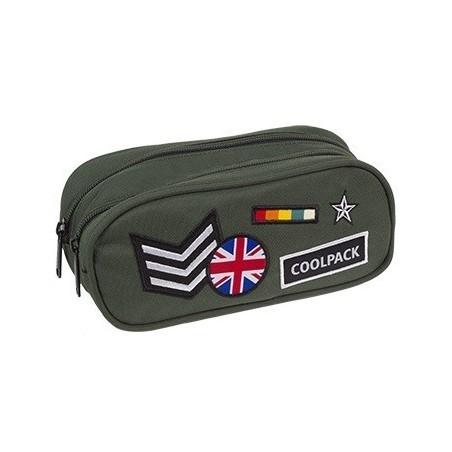f1ecf56b8ff96 Saszetka podwójna CoolPack CP CLEVER BADGES GREEN zielona - plecak ...