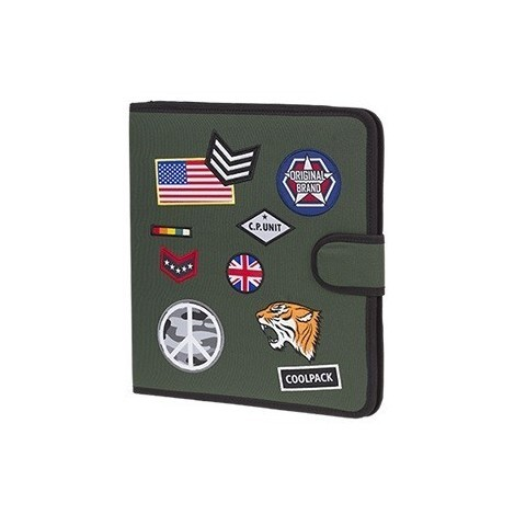 Teczka wielofunkcyjna CoolPack CP zielona ze znaczkami MATE BADGES GREEN