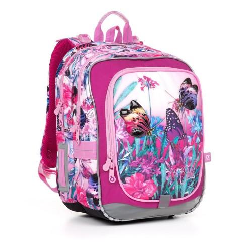 Plecak szkolny Topgal motylki różowe ENDY17004 z opcją świecenia (BEZ ZASILACZA!)