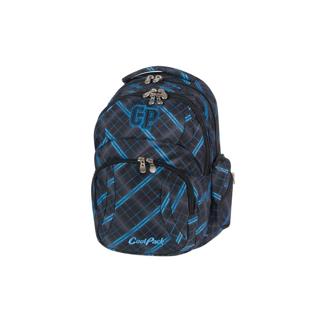 PLECAK MŁODZIEŻOWY COOLPACK TITAN SCOTISH BLUE CP 341 - plecak-tornister.pl