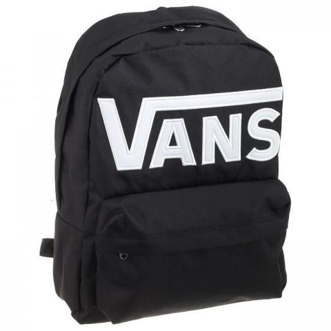 Plecak VANS WM Old Skool Black-White czarny z dużym napisem