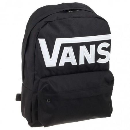 Plecak VANS WM Old Skool Black White czarny z dużym napisem
