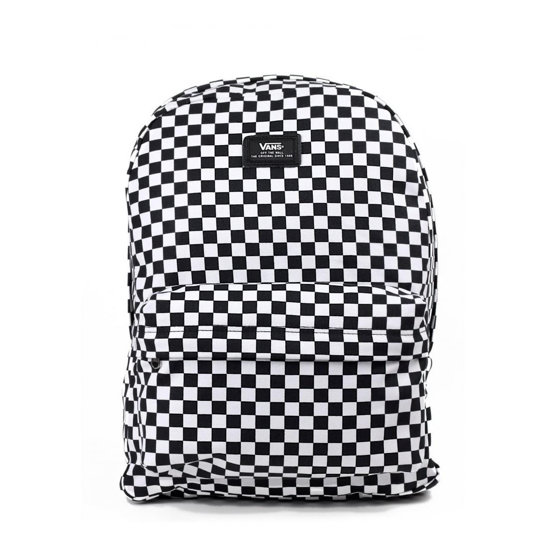 3f9711da0534f Plecak młodzieżowy Vans Old Skool II Black White Check szachownica ...