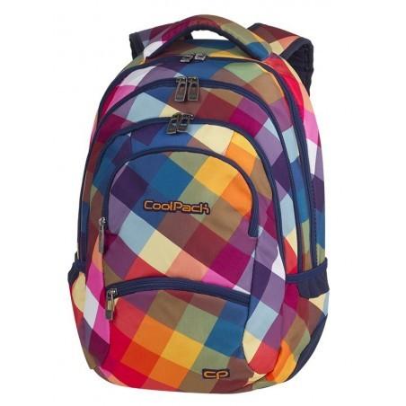 Plecak młodzieżowy CoolPack CP COLLEGE CANDY CHECK kolorowe kwadraty tęcza - 5 przegród - A530