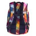 Plecak młodzieżowy CoolPack CP COLLEGE CANDY CHECK kolorowe kwadraty tęcza profilowane plecy - 5 przegród - A530