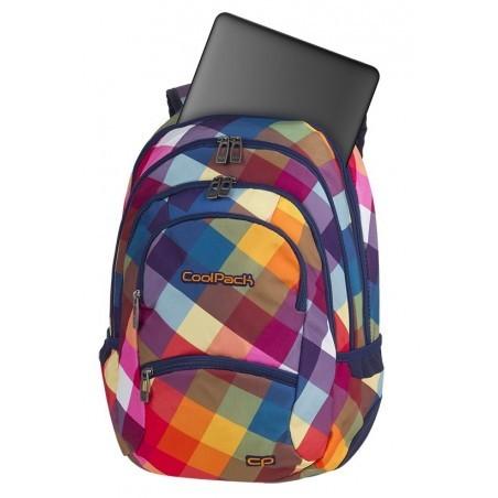efa51a8057b6c ... Plecak młodzieżowy CoolPack CP COLLEGE CANDY CHECK kolorowe kwadraty  tęcza kieszeń na laptop - 5 przegród