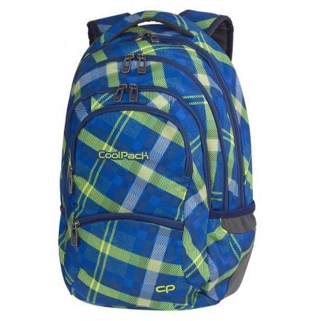 Plecak młodzieżowy CoolPack CP COLLEGE SPRINGFIELD zielono-niebieski w dużą kratę - 5 przegród - A534