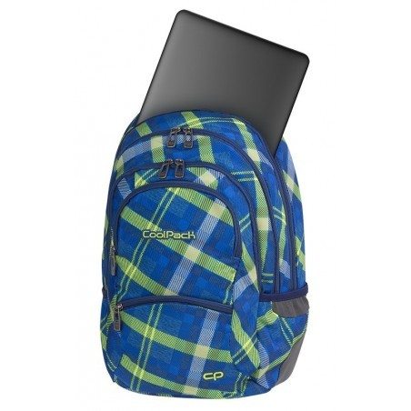 Plecak młodzieżowy CoolPack CP COLLEGE SPRINGFIELD zielono-niebieski w dużą kratę wiosna 2018 - 5 przegród - A534