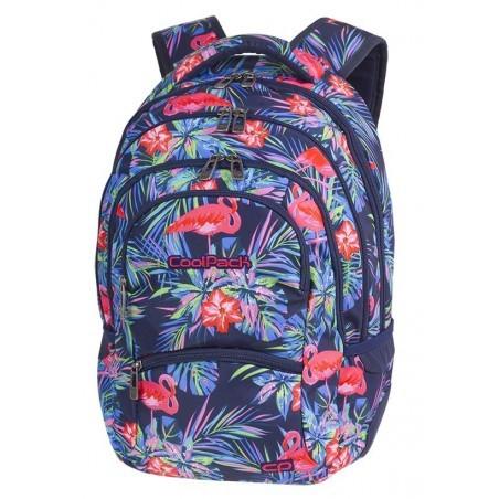 Plecak młodzieżowy CoolPack CP COLLEGE PINK FLAMINGO różowe flamingi kwiaty - 5 przegród - A478