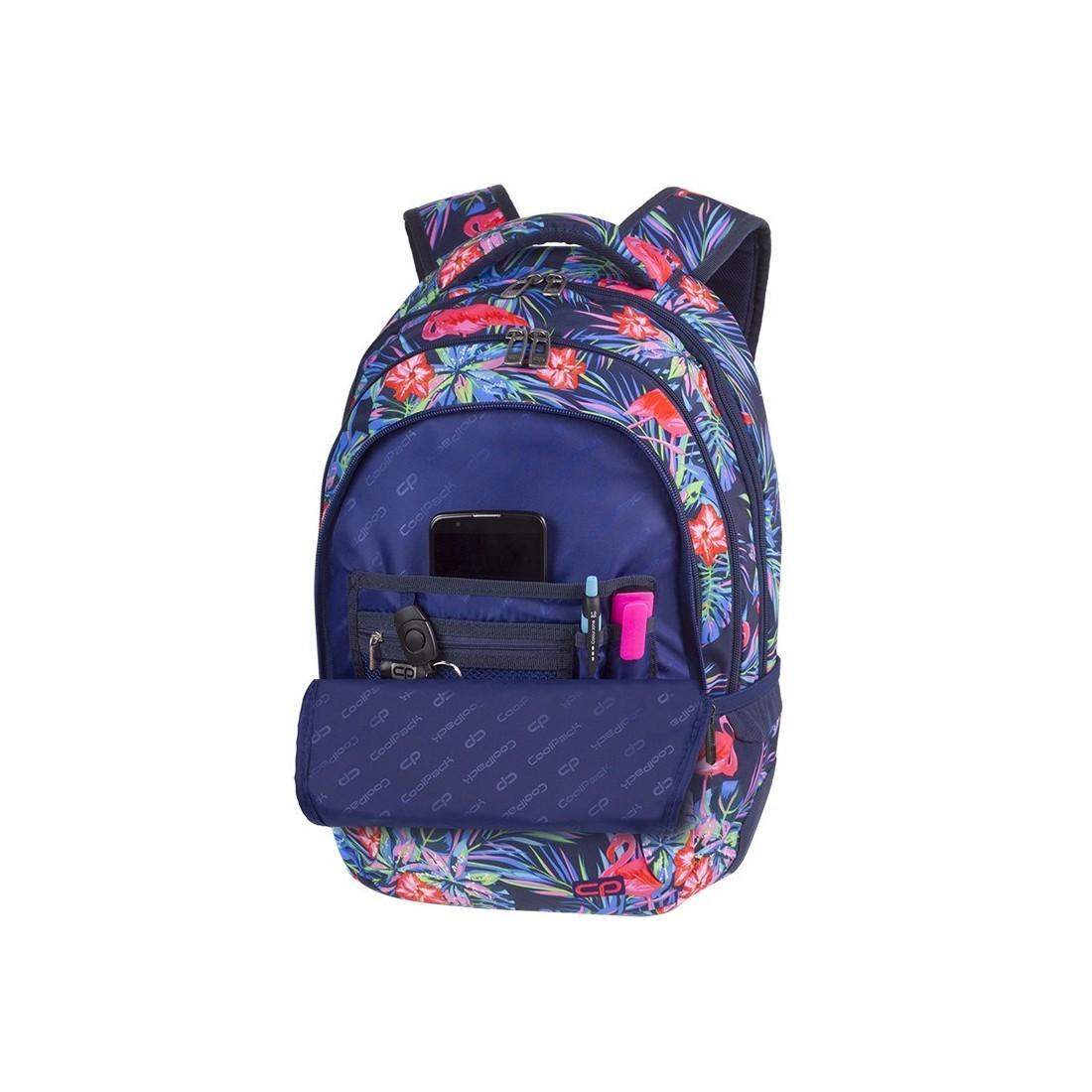 eb902233ebf92 ... Plecak młodzieżowy CoolPack CP COLLEGE PINK FLAMINGO różowe flamingi  kwiaty - 5 przegród - A478 ...