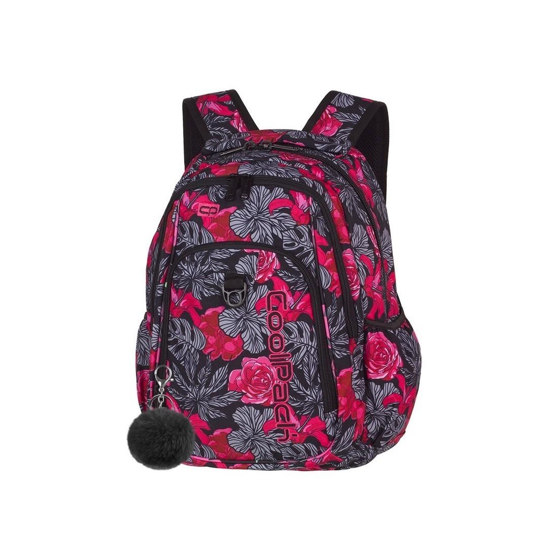 4d74cb4329172 Plecak szkolny CoolPack CP STRIKE RED & BLACK FLOWERS czerwone hiszpańskie  róże dla dziewczyny - A241 ...