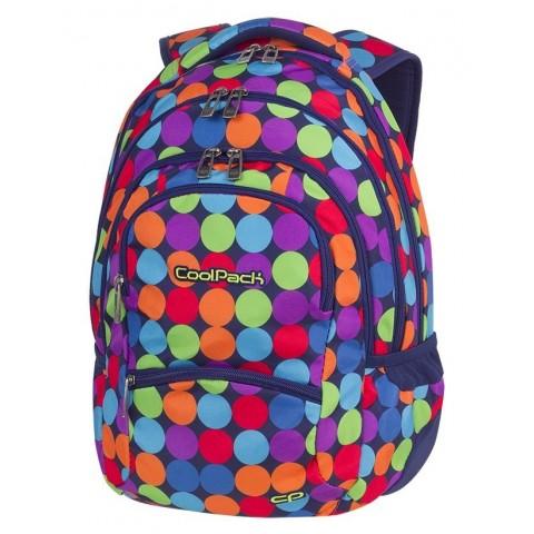 Plecak młodzieżowy CoolPack CP COLLEGE BUBBLE SHOOTER kolorowe kropki kulki - 5 przegród - A490