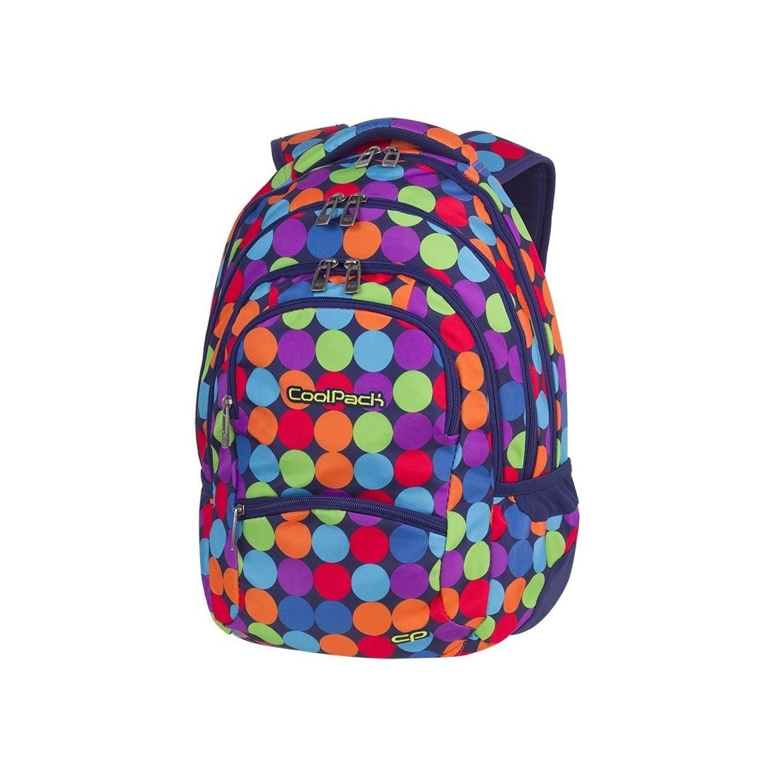 3658ab7ffc690 Plecak młodzieżowy CoolPack CP COLLEGE BUBBLE SHOOTER kolorowe kropki kulki  - 5 przegród - A490