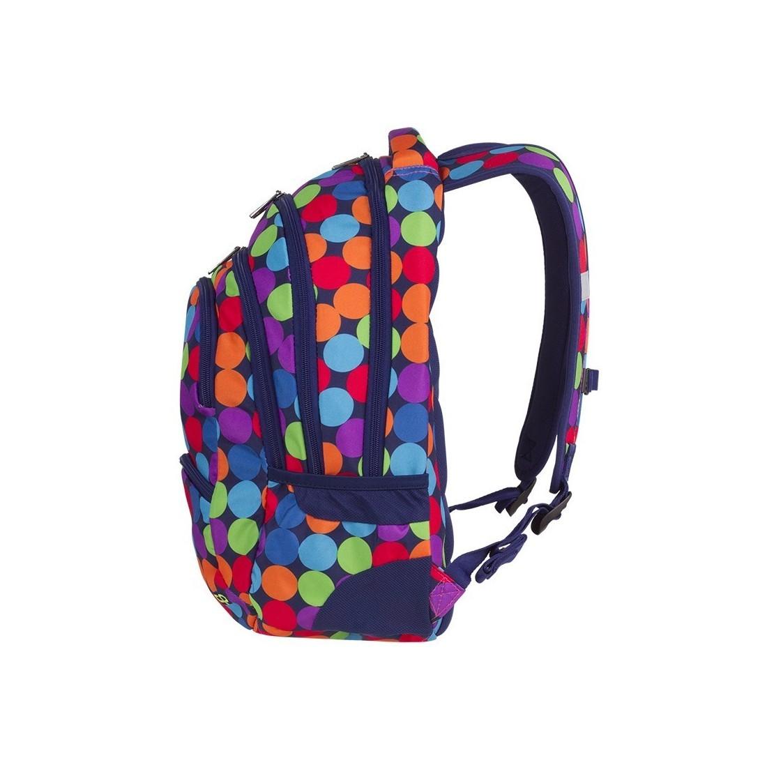 00053035d3658 ... Plecak młodzieżowy CoolPack CP COLLEGE BUBBLE SHOOTER kolorowe kropki  kulki - 5 przegród - A490 ...