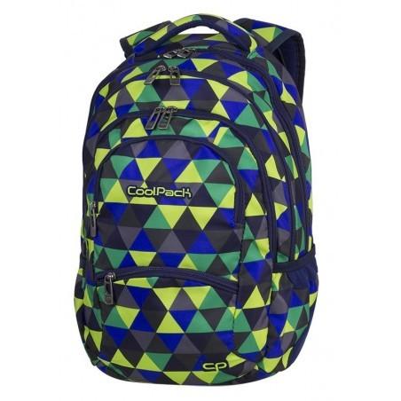 CoolPack CP COLLEGE PRISM ILLUSION plecak młodzieżowy wielobarwne trójkąty - 5 przegród - A502