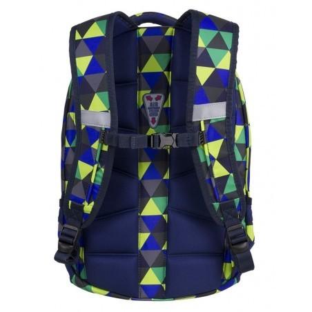 CoolPack CP COLLEGE PRISM ILLUSION plecak młodzieżowy wielobarwne trójkąty anatomicznie wyprofilowane plecy - 5 przegród - A502