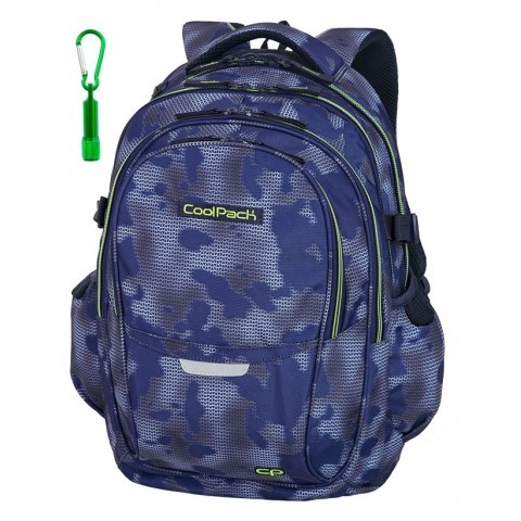 418c445c866f2 Plecak szkolny CoolPack CP FACTOR MISTY GREEN mgła zielone detale - 4  przegrody - A040