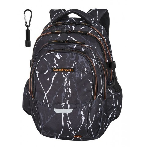 Plecak szkolny CoolPack CP FACTOR BLACK MARBLE czarny marmur dla chłopaków - 4 przegrody - A073