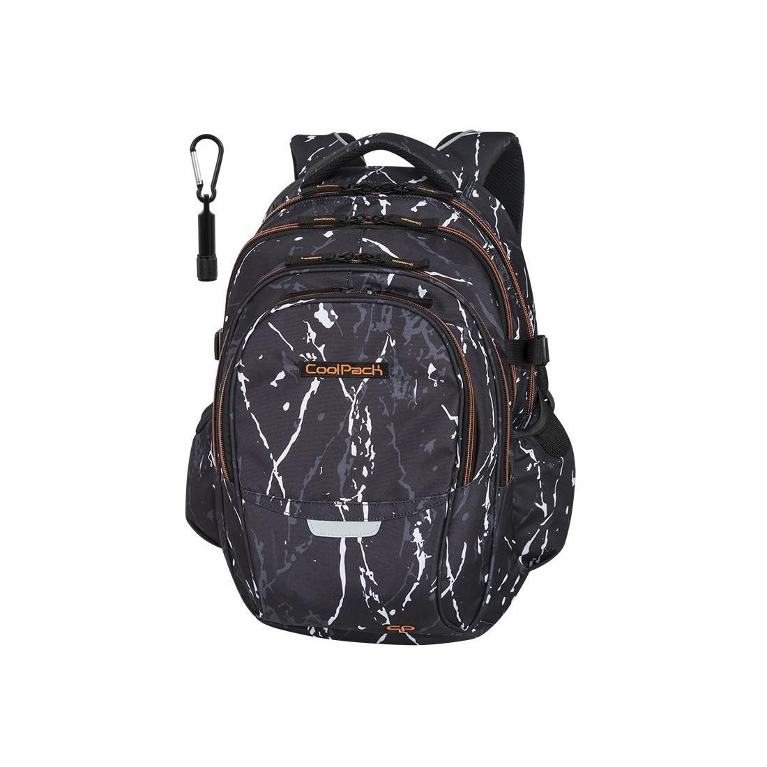 899c8eab0 Plecak szkolny CoolPack CP FACTOR BLACK MARBLE czarny marmur dla chłopaków  - 4 przegrody - A073