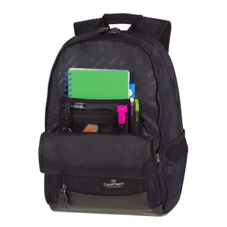 Plecak szkolny CoolPack CP UNIT CAMO BLACK czarne moro organizer - A560