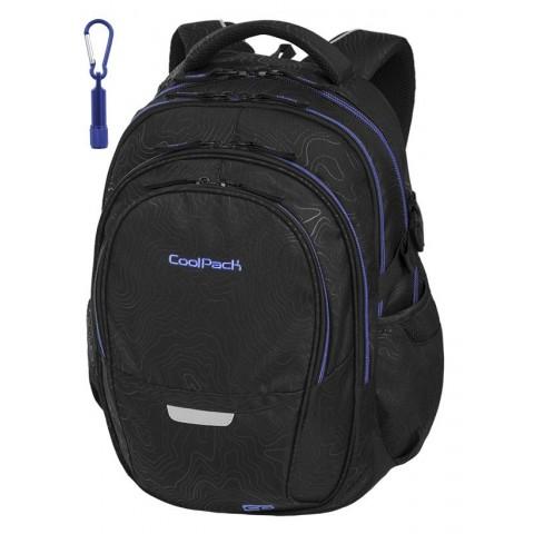 674073ee0e5de Plecak szkolny CoolPack CP FACTOR TOPOGRAPY BLUE izolinie mapa  topograficzna dla chłopaka - 4 przegrody -