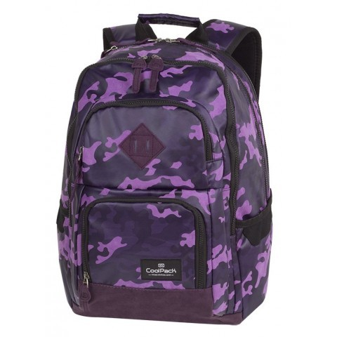 Plecak szkolny CoolPack CP UNIT FLOCK CAMO VIOLET fioletowe moro - A554