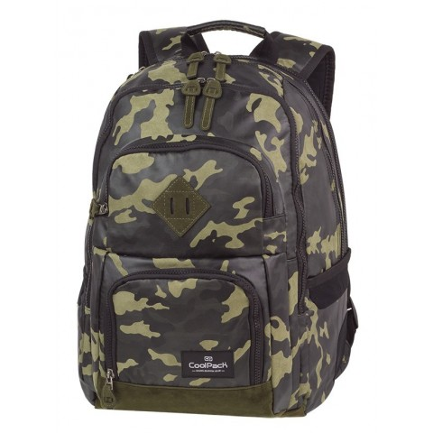 Plecak szkolny CoolPack CP UNIT FLOCK CAMO OLIVE GREEN oliwkowe moro - A556