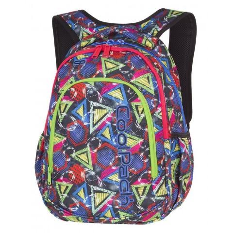 Plecak szkolny do klas 1-3 CoolPack CP PRIME GEOMETRIC SHAPES kolorowe figury dla dziewczynki - A202 + GRATIS COOLER BAG