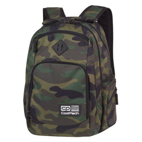 Plecak szkolny COOLPACK CP BREAK CAMOUFLAGE CLASSIC dla nastolatków klasyczne kolory moro - A386