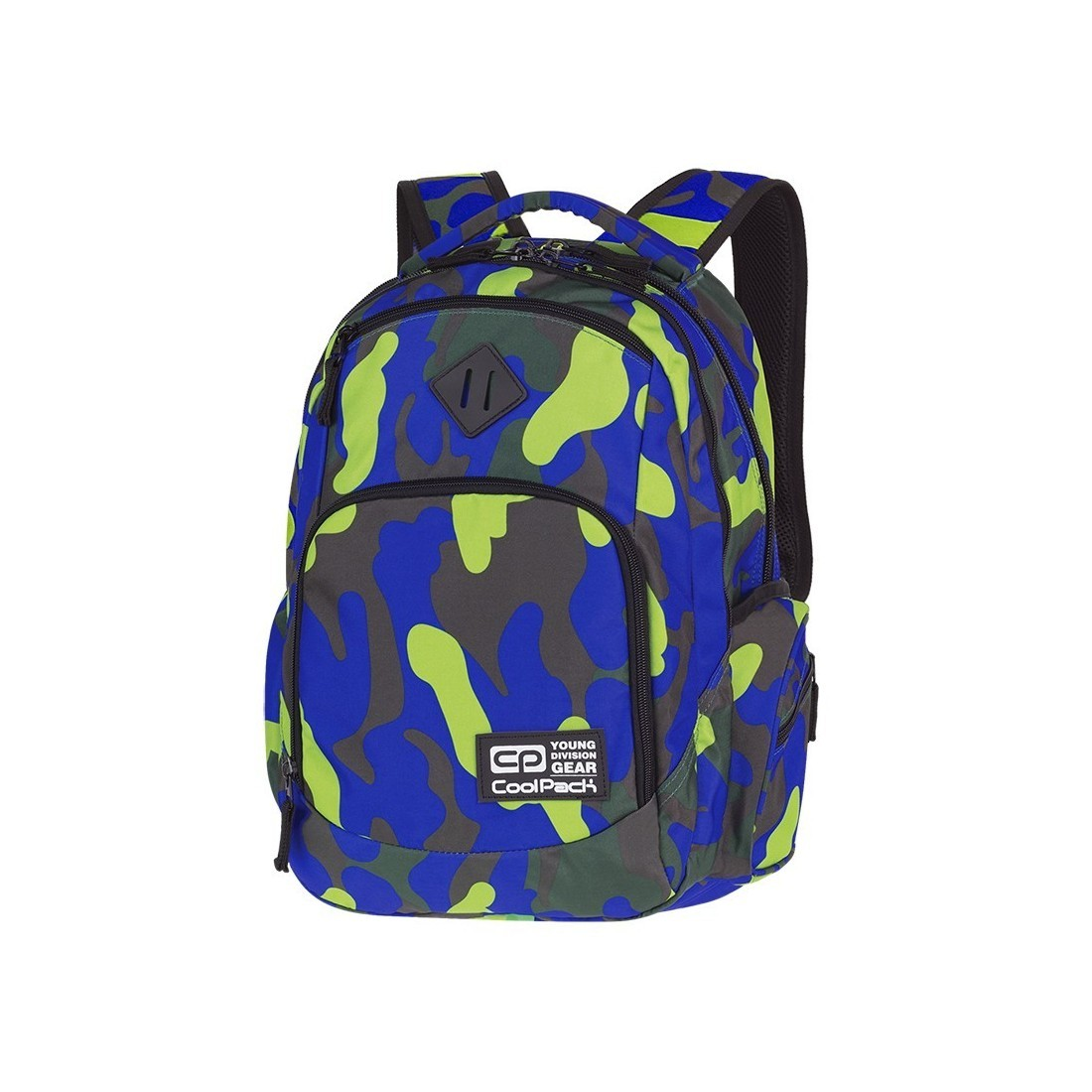 e9d8422476867 Plecak szkolny COOLPACK CP BREAK CAMOUFLAGE LIME dla uczniów limonkowe moro  - A347
