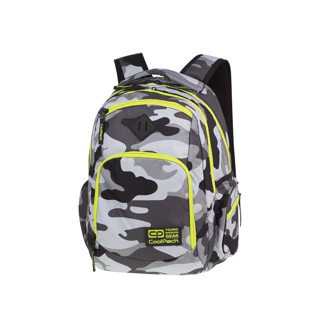 miło tanio sprzedawca detaliczny 100% najwyższej jakości Plecak szkolny COOLPACK CP BREAK CAMO YELLOW NEON szare moro żółty neon -  A365