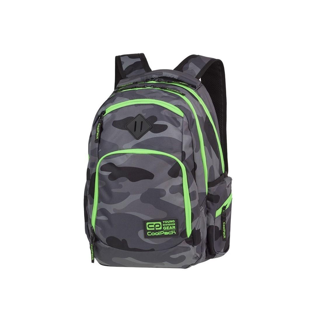 odebrać nowy design szczegółowe obrazy Plecak szkolny COOLPACK CP BREAK CAMO GREEN NEON szare moro zielony neon -  A371